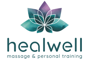 healwell massage and personal training flower logo